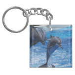 Dolphin Jumping Keychain
