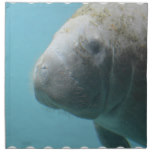 Large Manatee Underwater Cloth Napkin