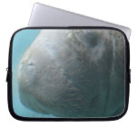 Large Manatee Underwater Laptop Sleeve