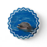 Lovable Dolphin Pinback Button