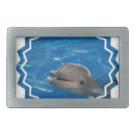 Lovable Dolphin Rectangular Belt Buckle