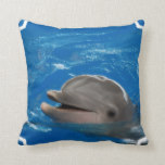 Lovable Dolphin Throw Pillow