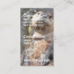 Otter Back Float Business Card