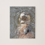 Otter Back Float Jigsaw Puzzle