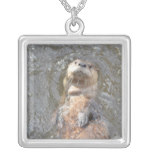Otter Back Float Silver Plated Necklace