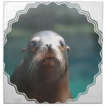 Sea Lion with Whiskers Cloth Napkin