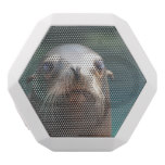 Sea Lion with Whiskers White Bluetooth Speaker