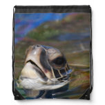 Sea Turtle Drawstring Bag